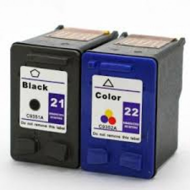 Huismerk voor HP 21 inkt cartridge + HP 22 inkt cartridge Multipack XL set
