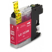 Brother LC-123M inkt cartridge Magenta (10ML) - Huismerk