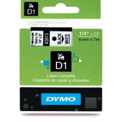 Dymo 45013 Labeltape D1 tape S0720530 Zwart op Wit (12mm x 7m)